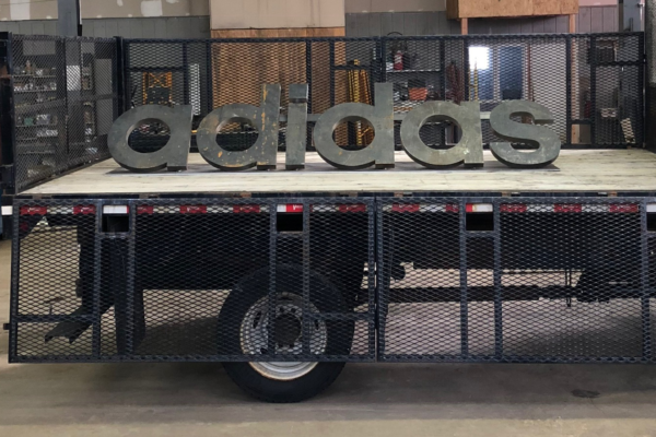 Adidas sign ready for delivery